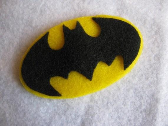 Felt Superhero Hair Clip -Batman
