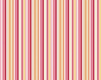 STORE CLOSING Sale Riley Blake Fine and Dandy Pink Stripe 1 yard