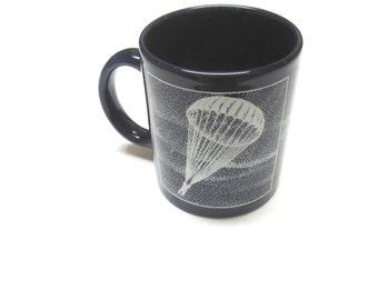 Paratrooper Fort Bragg Coffee Mug 82D Airborne Division Blackbird 1990 Cup