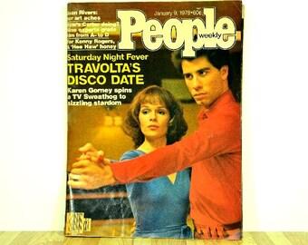 Vintage People Magazine 1978 Saturday Night Fever John Travolta Karen Gorney People Weekly From Sweathog to Stardom