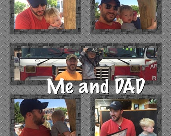 Fathers Day Photo Block, Photo Collage Wood Block
