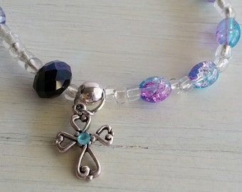 Rosary Bracelet, Girls Rosary Bracelet, Gift for Her, Rosary Chaplet, Catholic Bracelet, Christian Jewelry