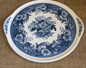 Blue and White Platter--Balmoral Royal Sphinx, Transferware--Chinoiserie Platter--Vintage Blue and White