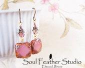 207•VINTAGE PINK Earrings•Earrings•Boho Earrings•Dangle Earrings
