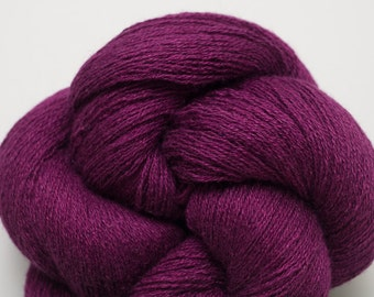 Beautyberry Magenta Silk Cashmere Lace Weight Recycled Yarn, 2976 Yards Available