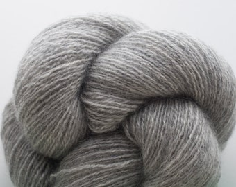 Heavy Lace Weight Recycled Cashmere Yarn, Smoke & Mirrors Gray Cashmere Lace Weight Recycled Yarn, 3056 Yards Available