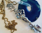 Vintage Fairy Key Necklace