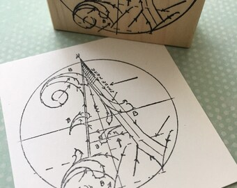 Letter A Diagram Rubber Stamp 5954