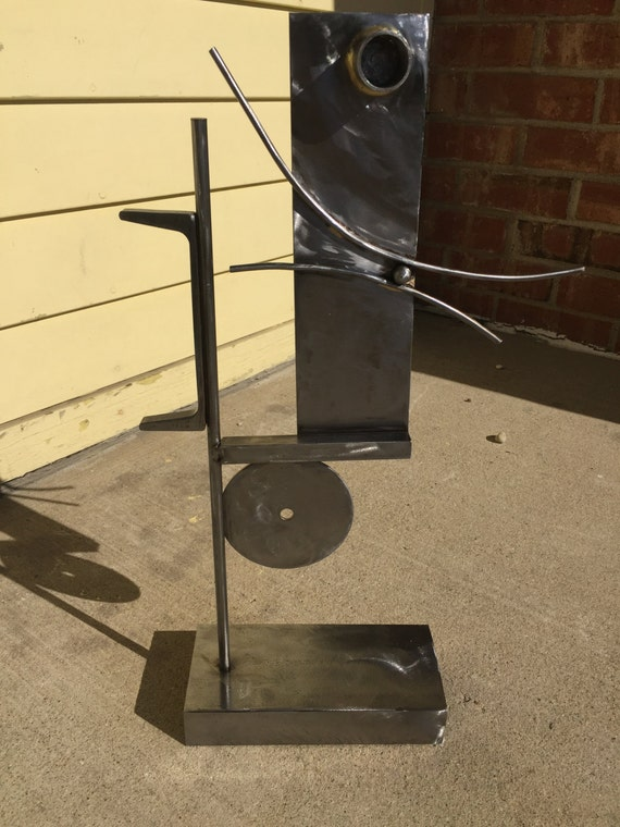 Modern Abstract Steel Table Sculpture