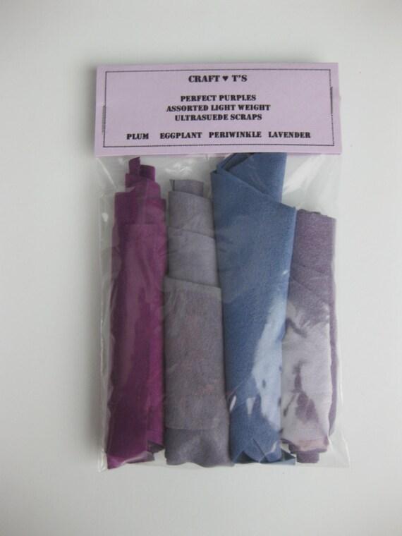Ultrasuede Perfect Purples Scrap Package