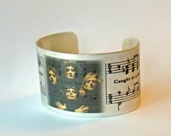 Queen Bohemian Rhapsody Silver Cuff Bracelet