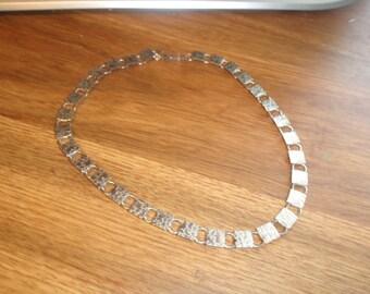 vintage necklace brushed shiny silvertone emmons