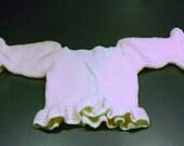 Peplum Cardigan Bolero Handknit Short Sweater Bolero Handmade in Pink