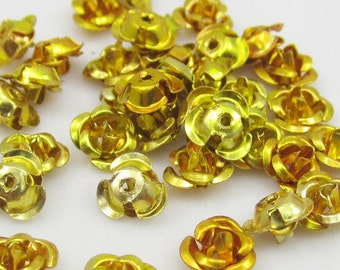 Gold Aluminum Roses-Gold-6mm-100 PCS