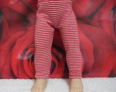 "Fits 10"" Patsy Tonner-Effanbee Doll .... Red/White Stripe Leggings ... D299"