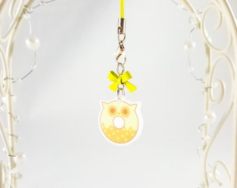 Planner Charm - Planner Accessories - Owl Phone Charm - Donut Phone Charm - Doughnut Phone Charm - Kawaii Charm - Acrylic Charm