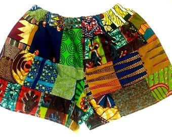 Ankara patchwork boxer shorts  (Small to Med)