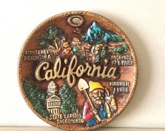 California Souvenir Ceramic Plate made in Japan