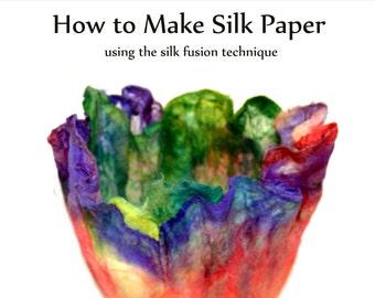 How to make silk paper using the silk fusion technique - Camaj Fiber Arts