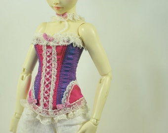 Raspberry Candy BJD Antique Line Corset for Minifee