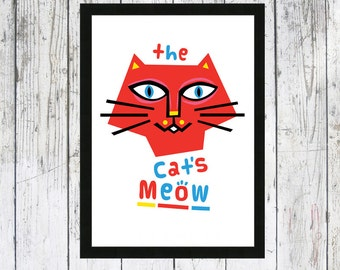 The Cat's Meow cat picture - Cat print