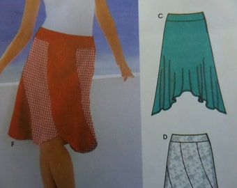 SWIRL SKIRT Pattern • Simplicity 5564 • Miss 4-10 • Handkerchief Hem Skirt • Banded Skirt • A-Line Skirt • Modern Patterns • WhiletheCatNaps