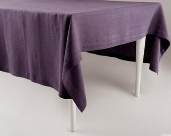 Violet tablecloth, Violet linen tablecloth, Custom tablecloth, Natural tablecloth