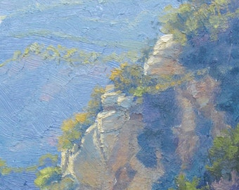 Landscape Painting, California Plein Air Painting, Nesting Cliffs