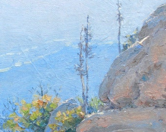 Landscape Painting, California Plein Air Painting, Withered Yuccas