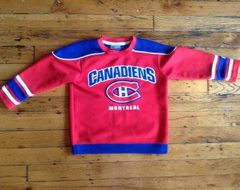 Vintage NHL kids Montreal Canadiens hockey jersey