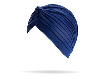 Turban Navy Blue headband, headpiece, hair turban, boho headband