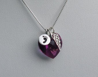 Miscarry Gift - Miscarry Necklace - Miscarry Jewelry- February Birthstone -Miscarriage Gift - Miscarry Gift- Amethyst Birthstone - Angel