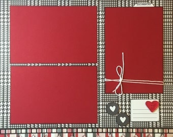 Untitled Red, White, Black - 12x12 Premade 1 Page Layout