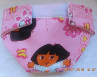 Ready  #2 cloth doll diaper little girl washable  fits bitty baby some baby alive American Girl doll baby all gone cabbage patch & more
