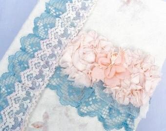 Shabby Chic Photo Album, Wedding Album, Handmade Album, Romantic Album