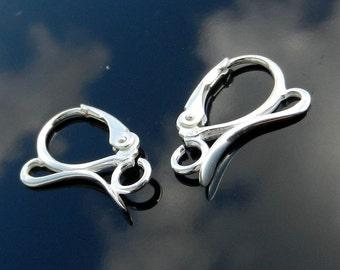 Sterling Silver Lever Back earrings 925 1 PAIR European Earwires