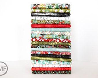 Juniper Berry Fat Quarter Bundle, 20 Pieces, BasicGrey, 100% Cotton, Moda Fabrics, 30430