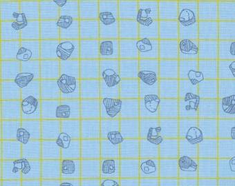 Carkai Grid Bits in Blueberry, Carolyn Friedlander, Robert Kaufman Fabrics, 100% Cotton Fabric, AFR-15795-77 BLUEBERRY