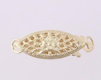 Fishhook Clasp - 14k Yellow Gold Jewelry Making / Repair Findings Q3970