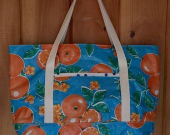 Large waterproof  oilcloth bag