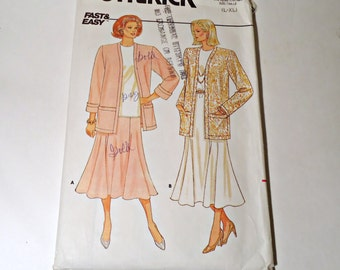 Butterick 4432 Sewing Pattern  Misses Jacket, Skirt and Top Pattern, Fast & Easy Size L XL
