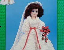 """20%OFF Td Creations SMILEY BRIDE 15"""" High Fashion Doll - Crochet Doll Dress Clothes Clothing Pattern"""