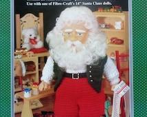 "20%OFF Fibre Fiber Craft WORKSHOP SANTA 14"" Santa Claus Doll - Crochet Doll Dress Clothes Clothing Pattern"