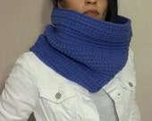 knitted chunky cozy loop scarf, infinity scarf, circle scarf,  cowl,  valentines day, blue cowl, christmas gift for her bridal wedding