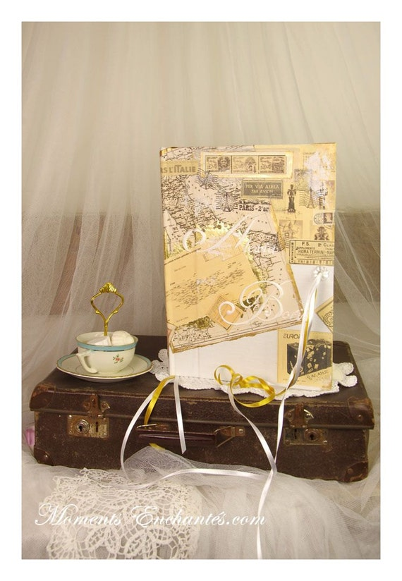 Saint Valentin Wedding Guest book Travel Personalized with your name your destination Your colors