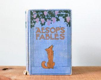 Vintage Aesop's Fables Hardback Book Grosset & Dunlap New York Publishers Edition John Tenniel Illustrations