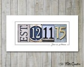 PERSONALIZED WEDDING Gift, UNFRAMED Wedding Sign, Personalized Established Date, Gift for Bride
