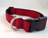Red Black Leopard Print Dog Collar