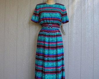 Vintage 80s BRIDGE CLUB JEWEL Never Worn Dress