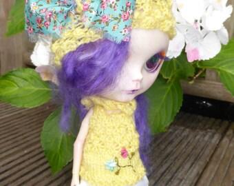 Blythe Elf Hat, Knitted Top & Pants (BD14616)